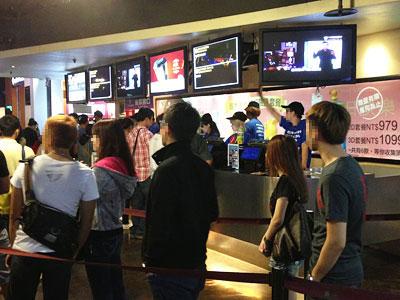 台湾で映画鑑賞初体験「風立ちぬ」台北信義威秀影城のチケット売り場