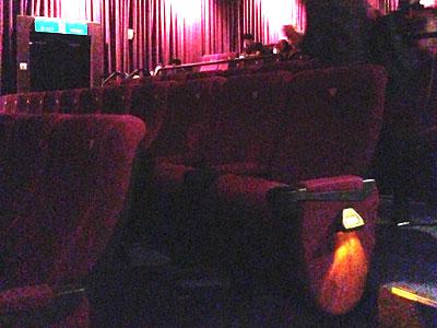 台湾で映画鑑賞初体験「風立ちぬ」台北信義威秀影城の座席