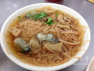 饒河街観光夜市のかなり美味しい東發號蚵仔麺線