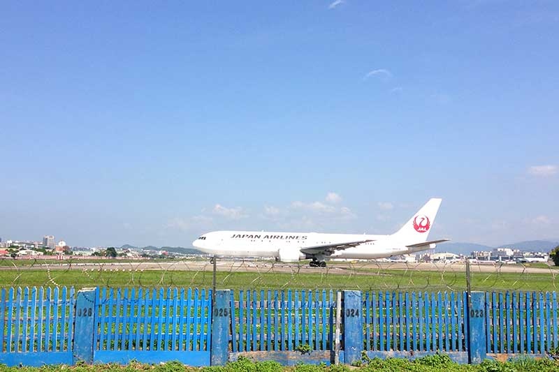 JAL機が離陸準備