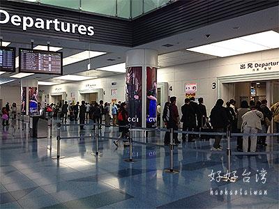 羽田空港国際線ターミナルは混雑気味