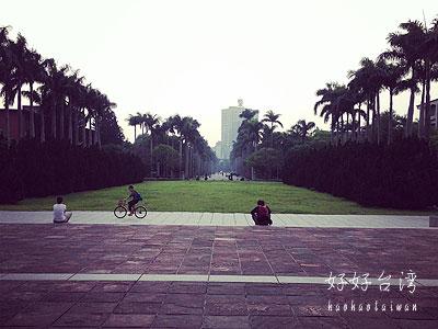 自然豊かな国立台湾大学内を散歩