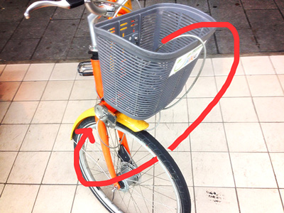 ユーバイクの鍵のかけ方