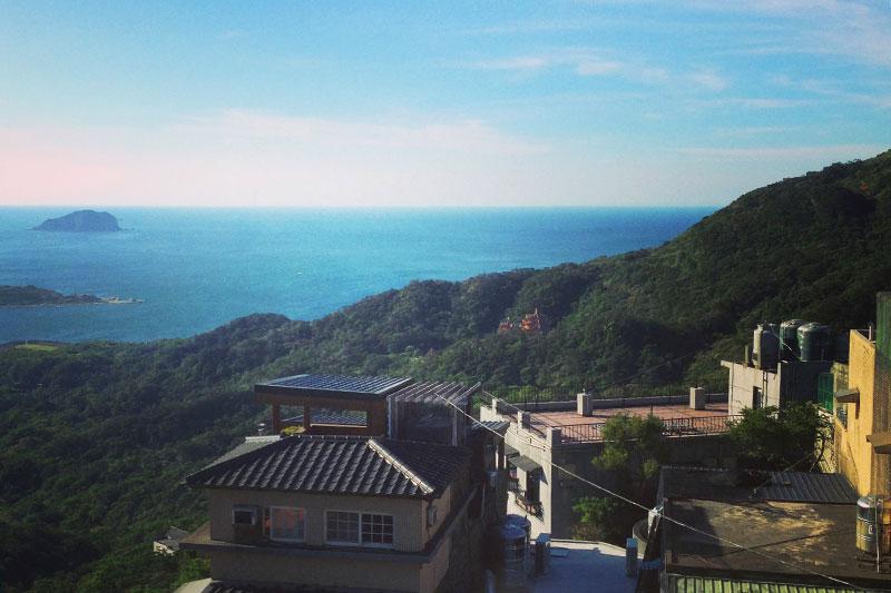 海も見える阿柑姨芋圓からの眺め