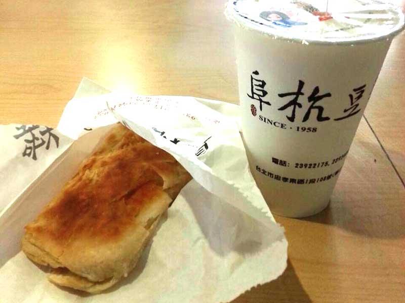 台湾旅行に欠かせない台湾式朝ごはん 阜杭豆漿