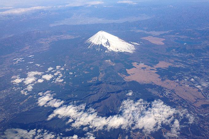 天気が良かったので富士山がきれいに見えます