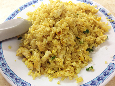 お気に入りのエビ炒飯70元、馬祖麵館