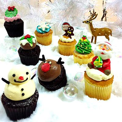 可愛いCloudyのクリスマスカップケーキ