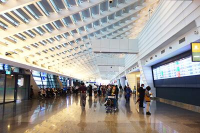 桃園国際空港第一ターミナル到着ロビー