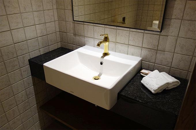 トイレ内にも洗面台と鏡があるのは便利