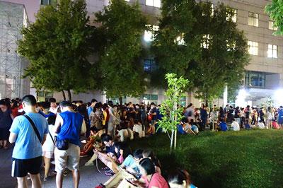 四號公園は9月になってもたくさんの人