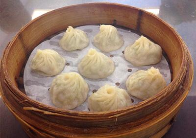 杭州小籠湯包店の小籠包