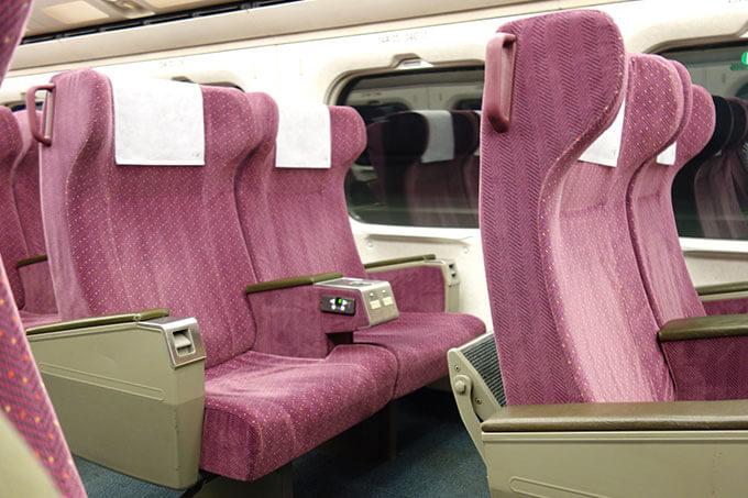 台湾新幹線のビジネスクラスシート