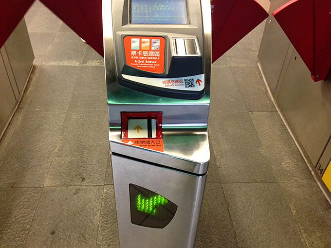 台湾新幹線の自動改札機