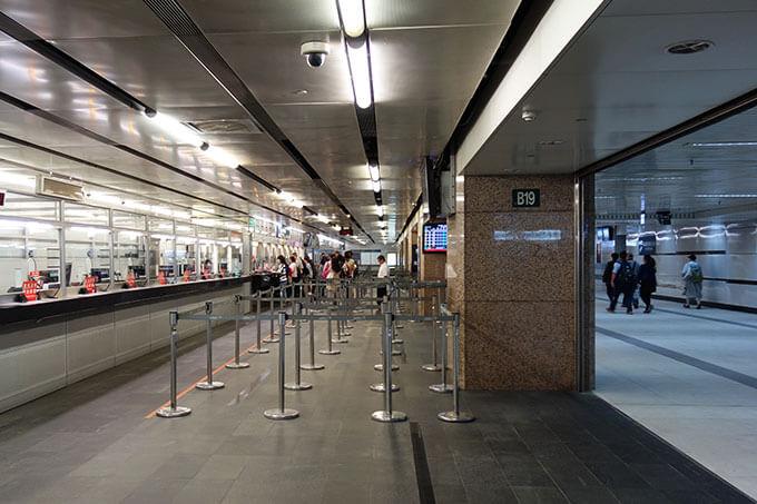 台北駅地下1階のチケット売り場