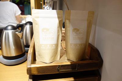 自家焙煎のコーヒー豆も販売