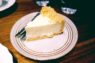 チーズケーキがまたおいしい!
