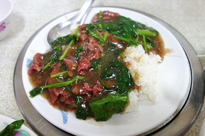 牛肉のあんかけご飯(牛肉燴飯)