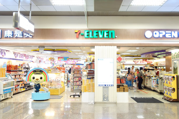 台北松山空港内のセブンイレブン
